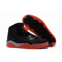"Jordan Air Spike 40 Forty PE ""Bred"" Black/Fire Red/Cement Grey For Sale Authentic"