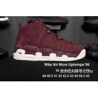 Nike Air More Uptempo Burgundy Men/Women New Style