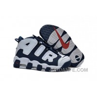 GS Nike Air More Uptempo Olympic Midnight Navy And White Red For Sale