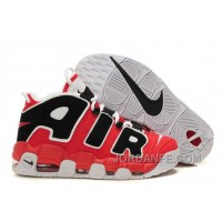 NK Air More Uptempo Varsity Red/Black-White For Sale Online Authentic