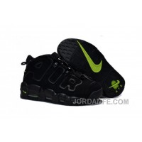 Womens Nike Air More Uptempo GS Black-Volt Girls Size For Sale Authentic