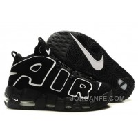 Nike Air More Uptempo Black/Black-White For Sale Top Deals