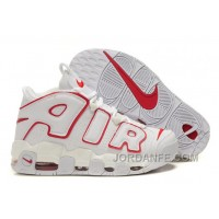 Cheap Nike Air More Uptempo White-Varsity Red Lastest