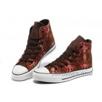 CONVERSE Chinese Year All Star Snake Texture Brown Red High Ps Canvas Sneakers Cheap To Buy