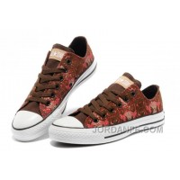 CONVERSE Chinese Year Snake Texture Chuck Taylor Brown Red Tops Canvas Sneakers New Release