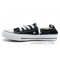 Classic Black CONVERSE Slip On Styling Chuck Taylor Shoreline All Star Tops Canvas Shoes Super Deals