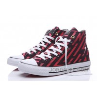 CONVERSE Chuck Taylor All Star Geometry Print Black Red High Lastest