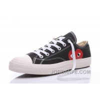CONVERSE Comme Des Garcons Play Chuck Taylor Black Sneakers Discount