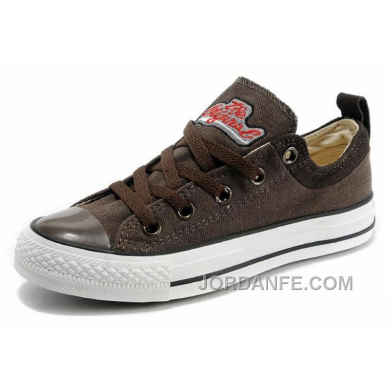 1f50ed885a8c Cool CONVERSE Brown Tops Embroidery Chucks All Star Canvas Brown .