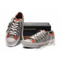 Grey Orange CONVERSE Double Upper Tongue All Star Chuck Taylor Tops Canvas Casual Shoes Online