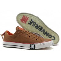 Authentic Undefeated CONVERSE All Star Tops Khaki Canvas Clear Rubber Soles