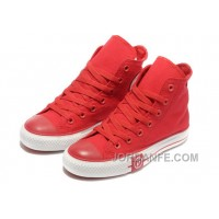 Red CONVERSE High Tops Lightning Chuck Taylor All Star Canvas Shoes New Release