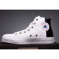 Online CONVERSE White Leather Two Panels Chuck Taylor All Star High Tops
