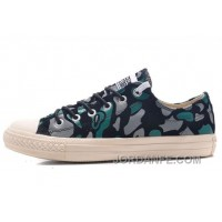 CONVERSE All Star Suede Camouflage Chuck Taylor Sneakers Black Green Grey Discount