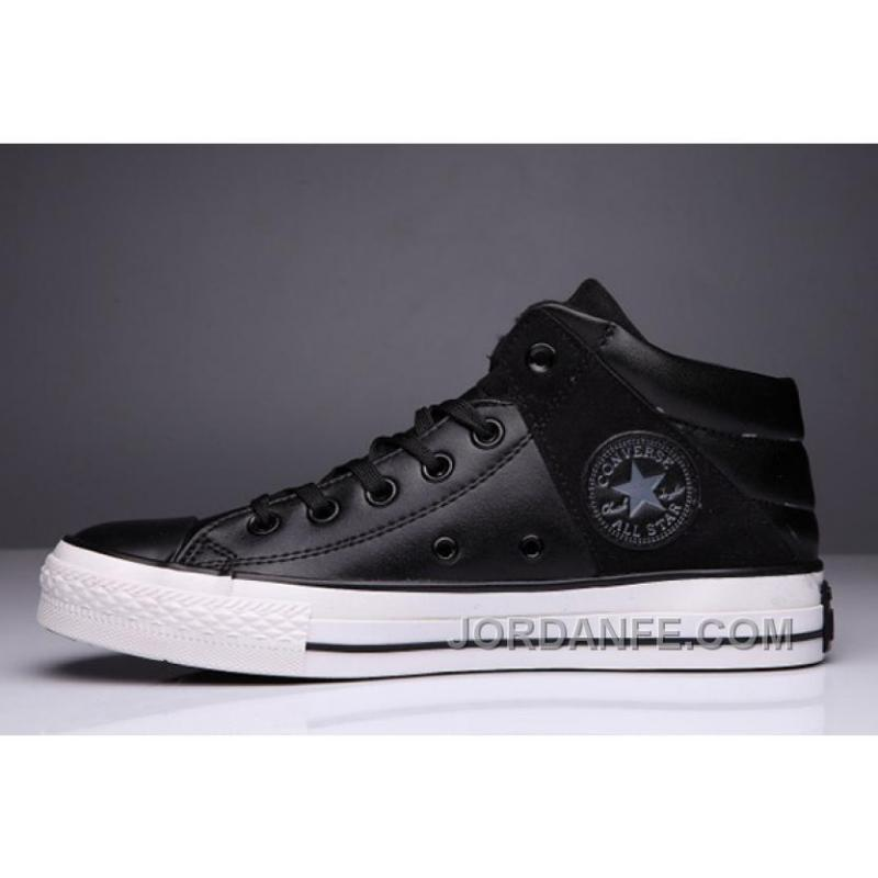 cf2e72221378 USD  59.17  99.18. Black High Tops CONVERSE Leather Padded Collar  Terminator Genisys Chuck Taylor All Star Discount ...