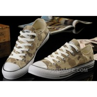Summer CONVERSE Nicolas Cage Soul Camouflage Yellow Ochre All Star Chucks S Canvas Sneakers Top Deals