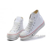 White Classic Platforms CONVERSE All Star Canvas Women Shoes Lastest