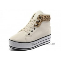 White CONVERSE All Star Platform Leather Leopard Cheap To Buy