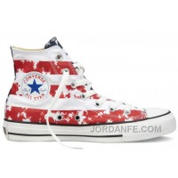 CONVERSE American Flag Red White Blue Chuck Taylor All Star Canvas Shoes Super Deals