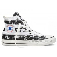 CONVERSE American Flag Black And White Chuck Taylor All Star Canvas Shoes Super Deals