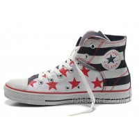 Easy Slip CONVERSE American Flag Chuck Taylor Black Red Bule Canvas Shoes For Sale