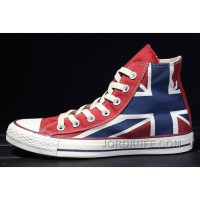 British Flag CONVERSE Rock Union Jack Blue Red Chuck Taylor All Star Canvas Sneakers Top Deals