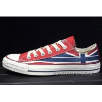 CONVERSE Rock Union Jack British Flag Red Blue Chuck Taylor All Star Canvas Sneakers Free Shipping