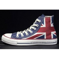 Lastest CONVERSE British Flag Rock Union Jack Red Blue Chuck Taylor All Star Canvas Sneakers