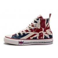 Blue CONVERSE British Flag Print All Star Beige Red Canvas London Shoes Online