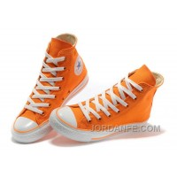 CONVERSE New Color Orange Dazzling Chuck Taylor All Star Canvas Women Sneakers Authentic