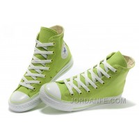 Fresh CONVERSE New Color Dazzling Light Green Chuck Taylor All Star Canvas Women Sneakers Cheap To Buy