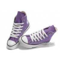 Purple CONVERSE Chuck Taylor All Star Canvas Shoes Discount