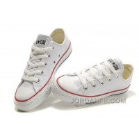 White Leather CONVERSE All Star Overseas Edition Monochrome Sneakers Online