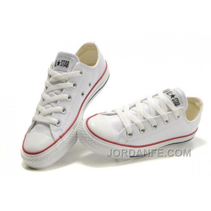 1be40fe94104a2 USD  56.31  99.18. White Leather CONVERSE All Star Overseas Edition  Monochrome Sneakers ...