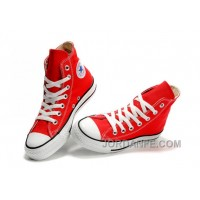 Red CONVERSE Chuck Taylor All Star Canvas Sneakers Authentic
