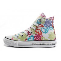 Womens CONVERSE All Star Peace And Love White Canvas Shoes Cheap To Buy