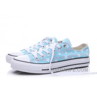 Blue CONVERSE Stars Print Chuck Taylor All Star Women For Sale