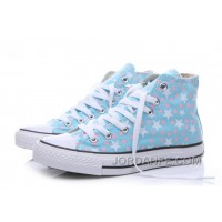 Blue CONVERSE Small Stars Print Chuck Taylor All Star Women For Sale