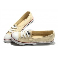 CONVERSE Chuck Taylor Off White Ballet Flats Dainty Ballerina All Star Summer Traning Sneakers Ladies Women Girls Online