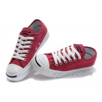 Red CONVERSE Jack Purcell Overseas Canvas Shoes Online