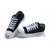Black CONVERSE Jack Purcell Canvas Shoes New Release
