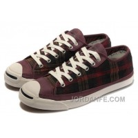 CONVERSE Jack Purcell Scotland Plaid Canvas Leather Cheap To Buy