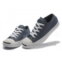 Blue CONVERSE Jack Purcell Vintage Washed Canvas Shoes Online