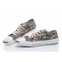 CONVERSE Jack Purcell Profile Camo Slip Army Green Canvas Low Authentic