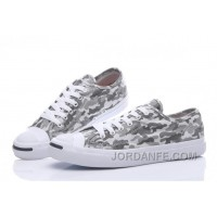 Grey CONVERSE Jack Purcell Profile Camo Slip Canvas Low Cheap To Buy