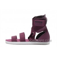 CONVERSE All Star Burgundy Chuck Taylor Elastic Band Roman Sandals Cheap To Buy