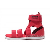 Red All Star CONVERSE Chuck Taylor Gore Roman Sandals New Release