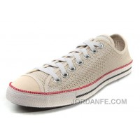 Super Deals Beige CONVERSE All Star Summer Collection Chuckout Mesh Style Tops Casual Shoes