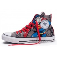 CONVERSE Chuck Taylor DC Comics Superman Grey Red Print All Star Canvas Shoes Authentic