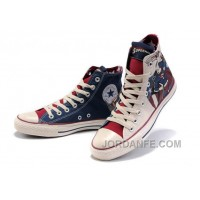 CONVERSE All Star Superman Printed Blue Beige Canvas Shoes Cheap To Buy